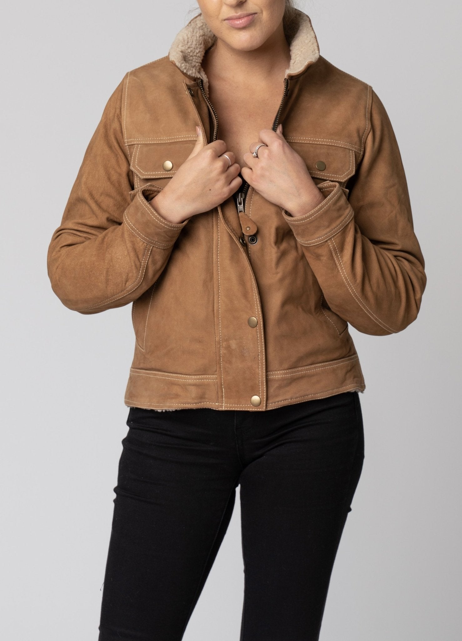 Blackbird - Blackbird Ladies Dakota Nubuck Leather Jacket - Ladies Jackets - Salt Flats Clothing