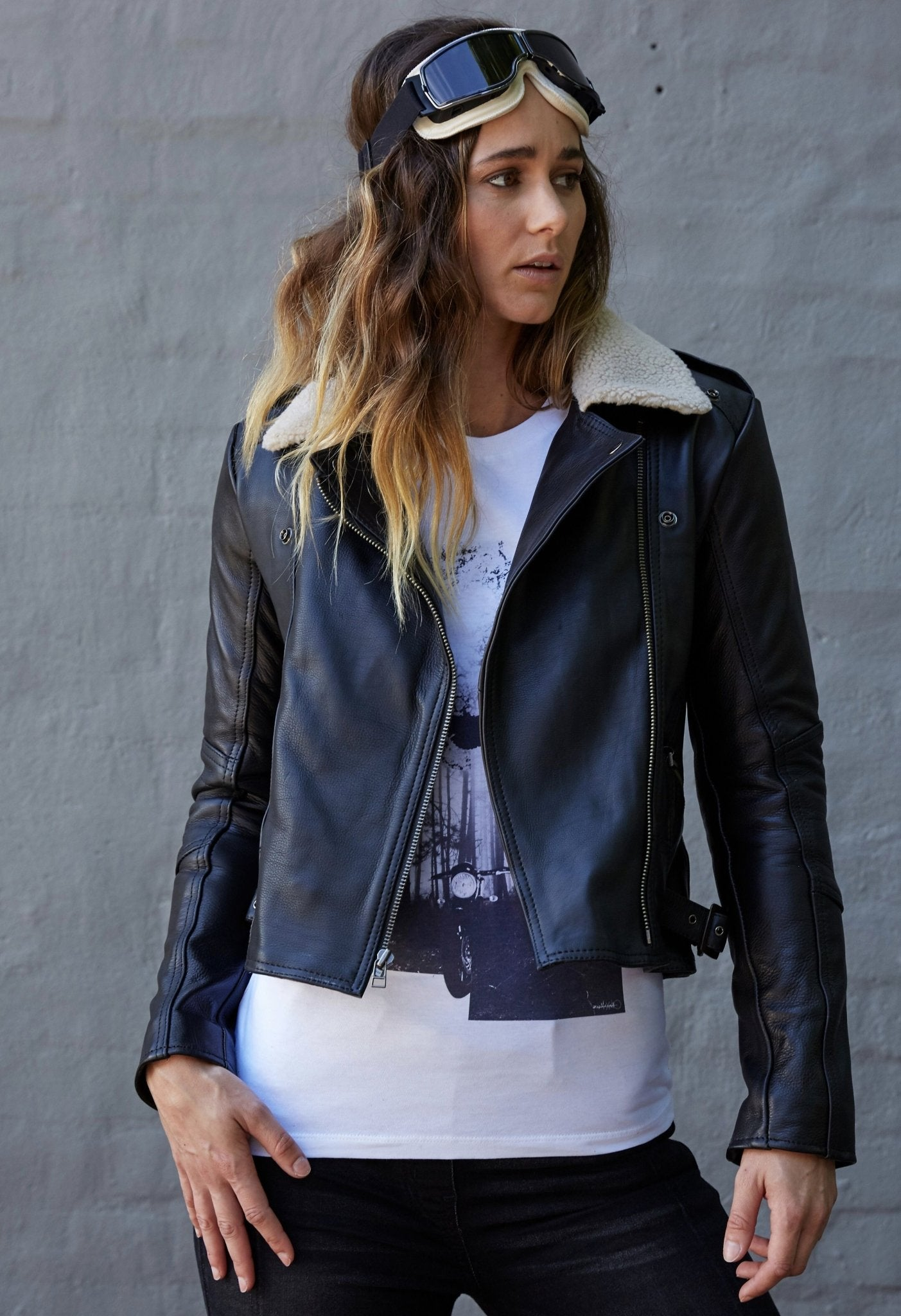 Blackbird - Blackbird Ladies Fly By Night Leather Jacket - Ladies Jackets - Salt Flats Clothing