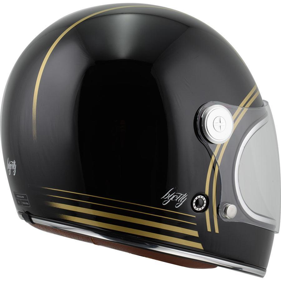 By City Roadster Gold schwarz Full Face Helm - Helme - Salt Flats Clothing