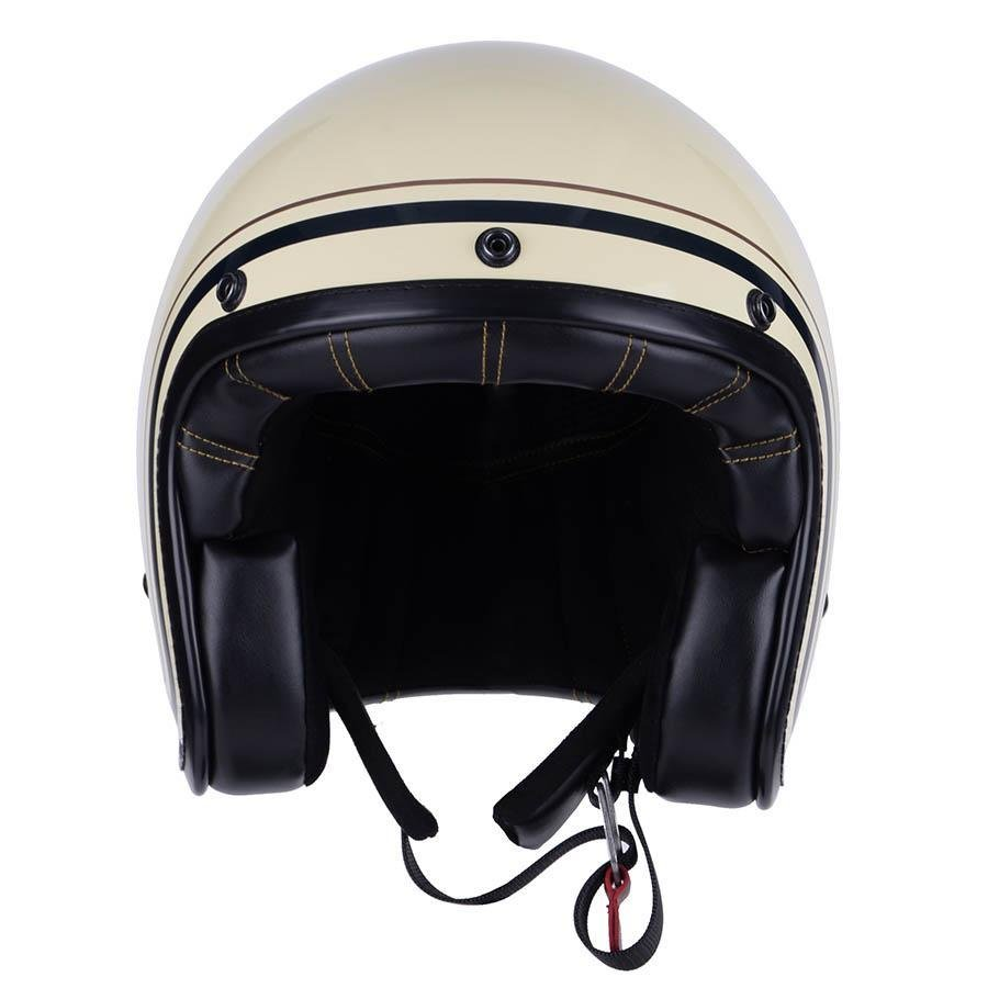 By City zwei Striche Beige offeneGesicht Jet Helm - Helme - Salt Flats Clothing