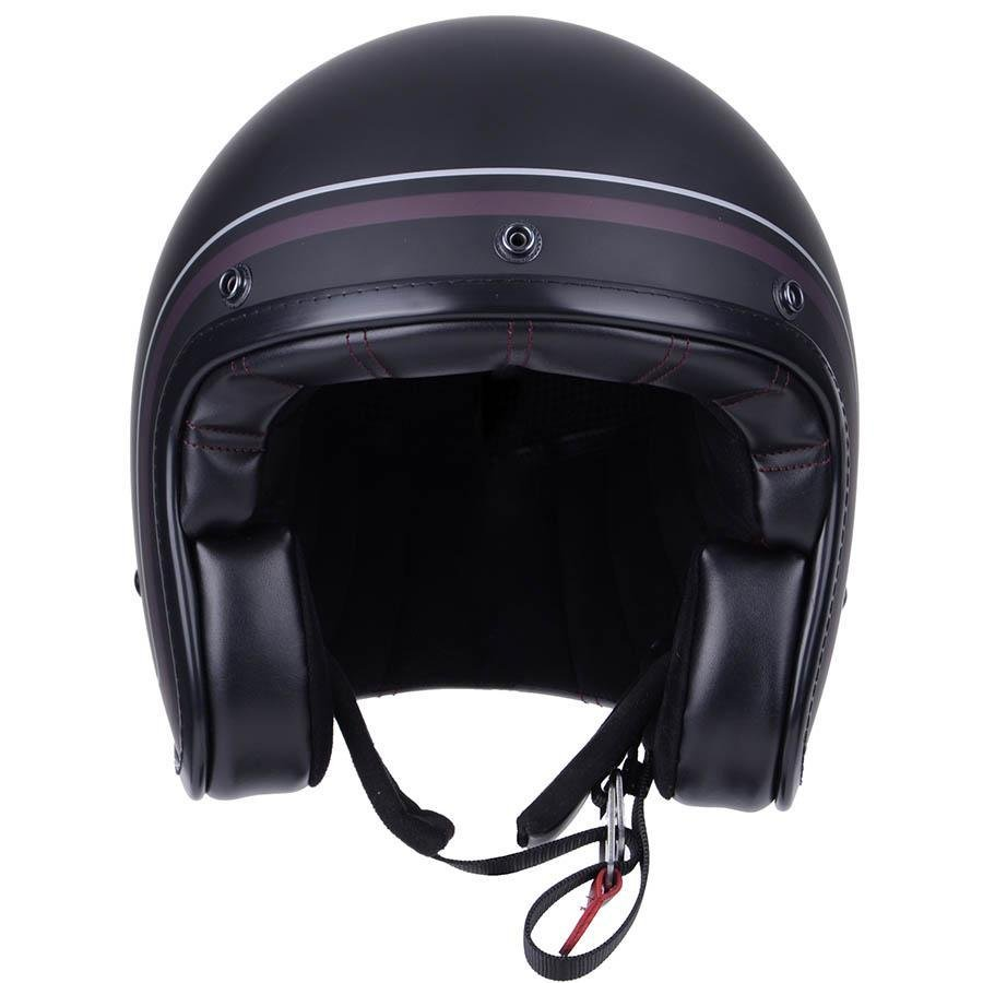 By City-By City Two Strokes Matte Black Open Face Jet Helm-Helme-Salt Flats Clothing
