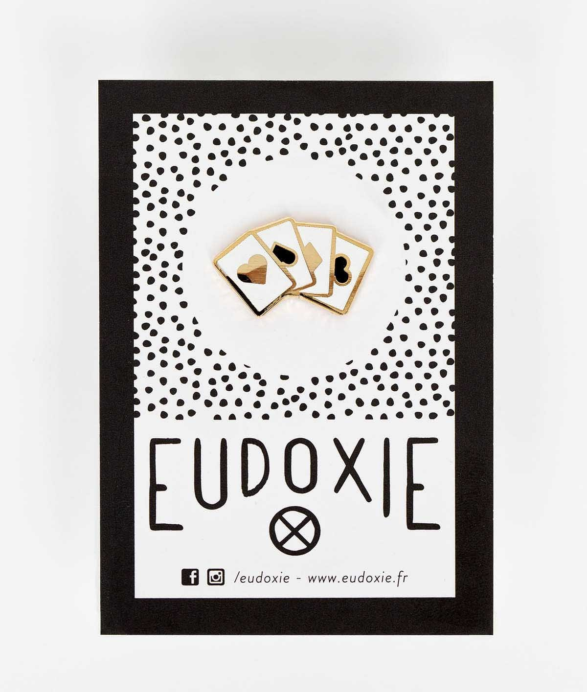 Eudoxie - Eudoxie Cards Pin - Accessories - Salt Flats Clothing