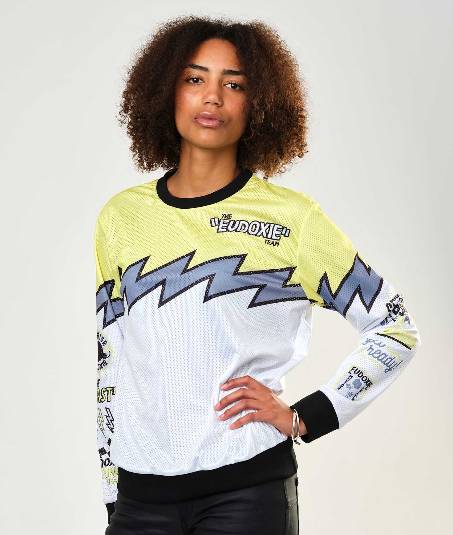 Eudoxie - Eudoxie Charly Long Sleeve Riding Jersey - T-Shirts - Salt Flats Clothing