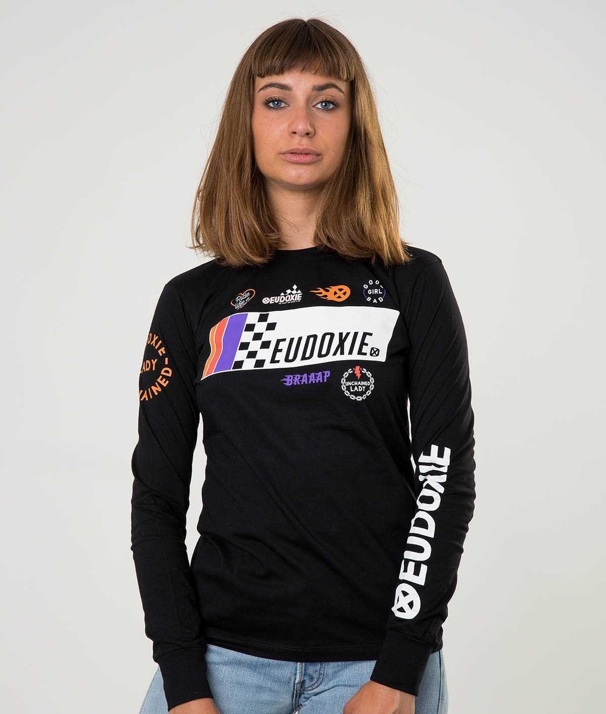 Eudoxie - Eudoxie Fast Black Long Sleeve T'Shirt - T-Shirts - Salt Flats Clothing