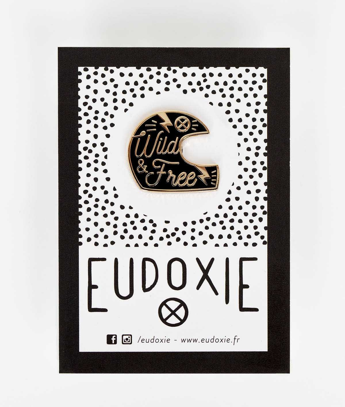 Eudoxie - Eudoxie Helmet Black Pin - Accessories - Salt Flats Clothing