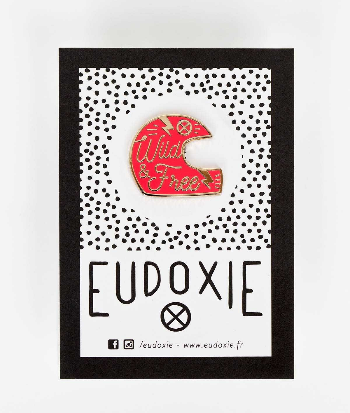 Eudoxie - Eudoxie Helmet Pink Pin - Accessories - Salt Flats Clothing