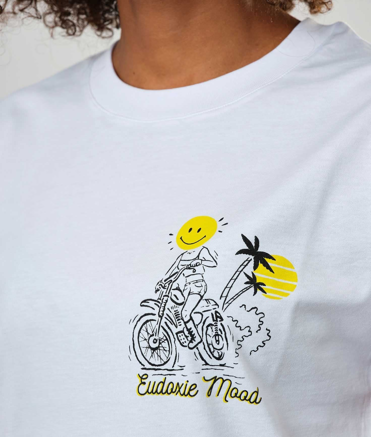 Eudoxie - Eudoxie Laurie White Unisex T'Shirt - T-Shirts - Salt Flats Clothing