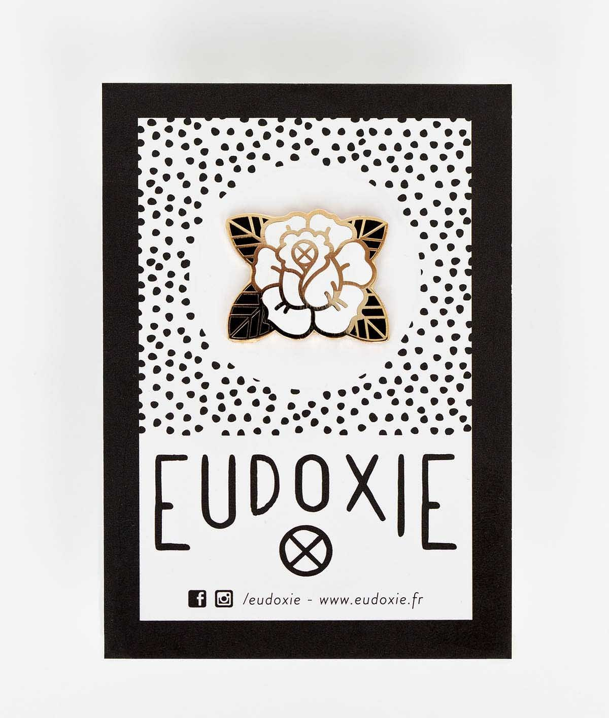 Eudoxie - Eudoxie Rose Pin - Accessories - Salt Flats Clothing