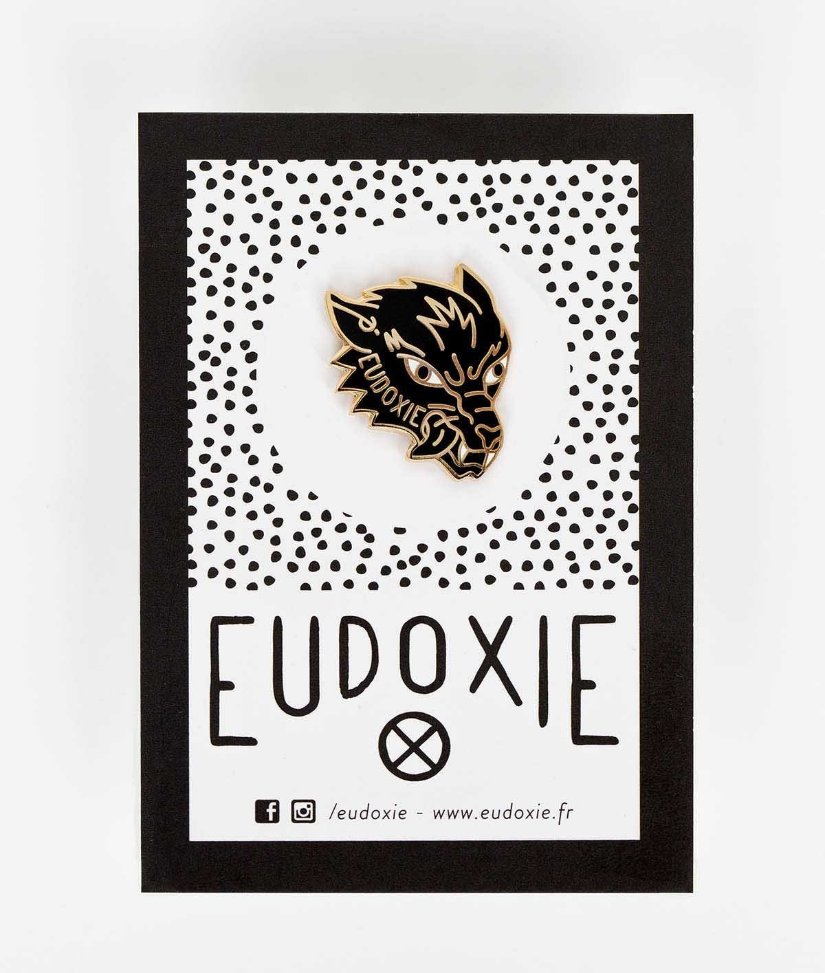 Eudoxie - Eudoxie Wolf Pin - Accessories - Salt Flats Clothing