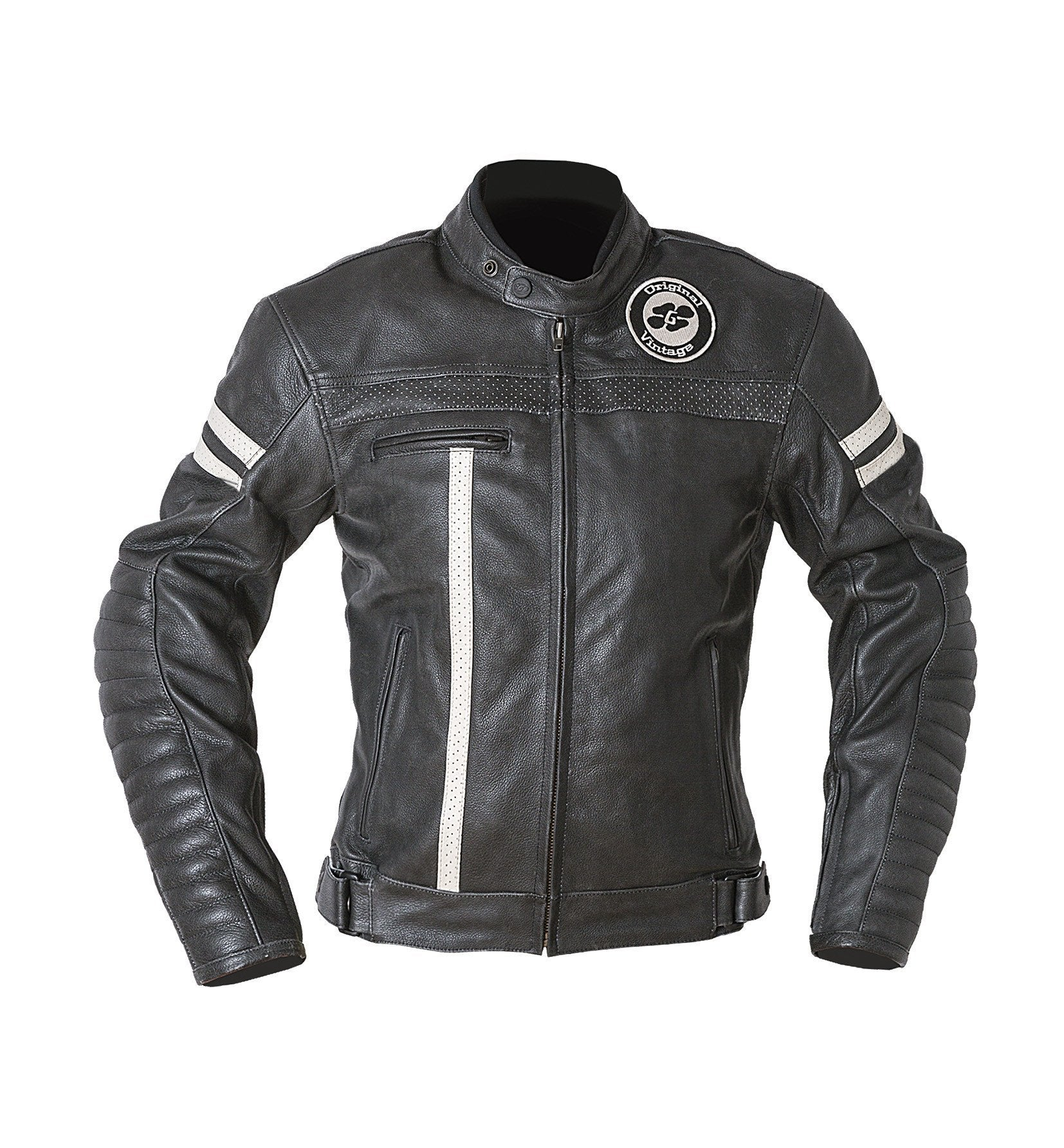 Garibaldi - Garibaldi Moka Racer Vintage Black Leather Ladies Jacket - Ladies Jackets - Salt Flats Clothing