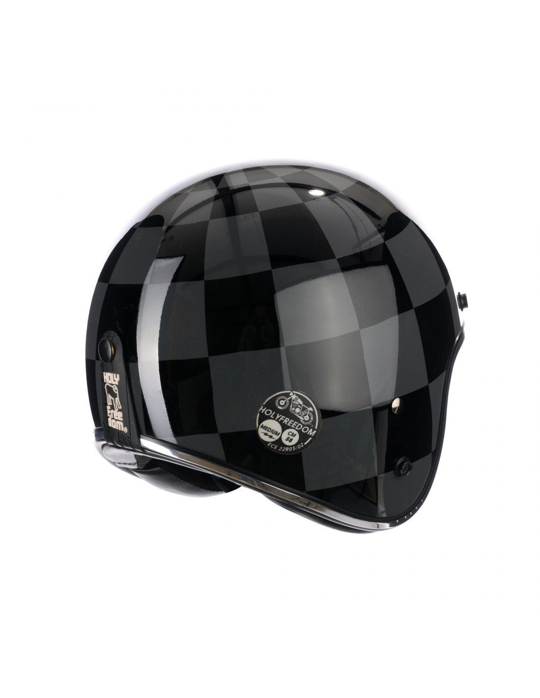 Holy Freedom - Holy Freedom Bullit Dark Open Face Jet Helmet ECE Certified - Helmets - Salt Flats Clothing