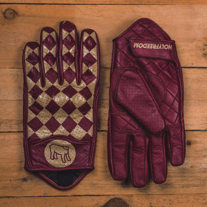 Holy Freedom - Holy Freedom Bullit Unsulto Burgundy and Cream Gloves - Gloves - Salt Flats Clothing