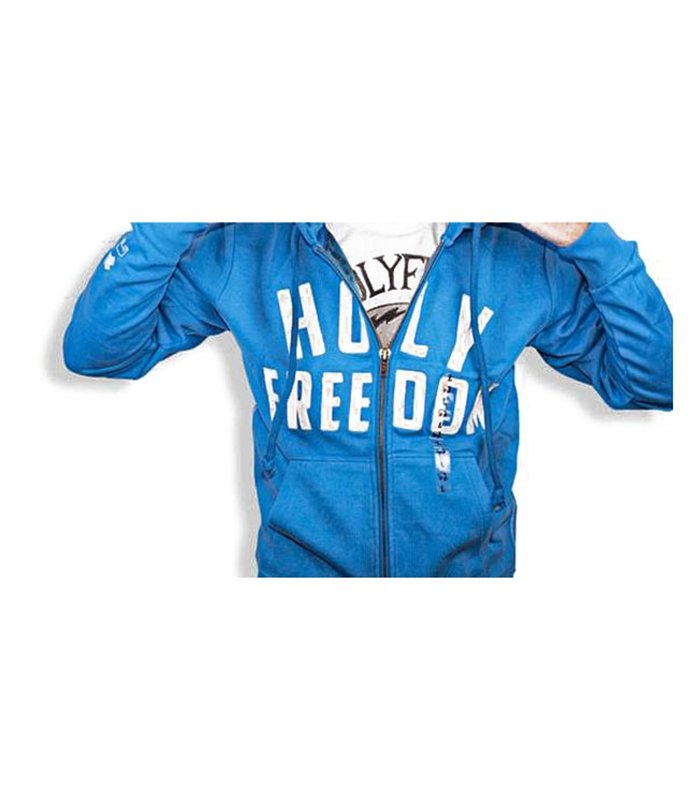 Holy Freedom - Holy Freedom Italia Light Blue Wind Stopper Hoodie - Hoodies | Sweatshirts | Wind Stoppers - Salt Flats Clothing