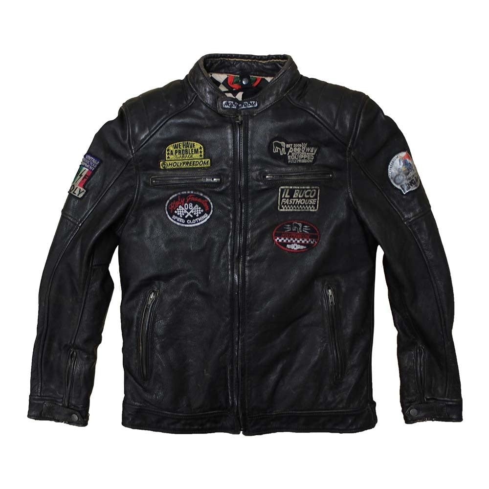 Holy Freedom Zero Black Leather Jacket