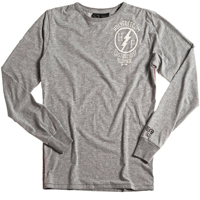 Holy Freedom - Holy Freedom Officina Grey Long Sleeve T'Shirt - T-Shirts - Salt Flats Clothing