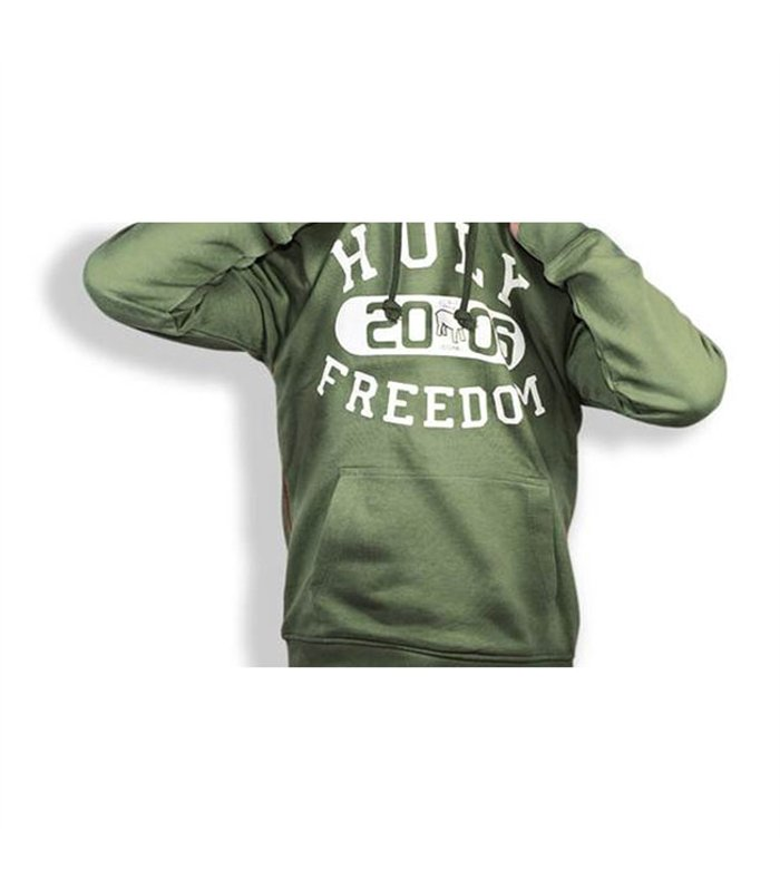 Holy Freedom - Holy Freedom Old School Green Wind Stopper Hoodie - Hoodies | Sweatshirts | Wind Stoppers - Salt Flats Clothing
