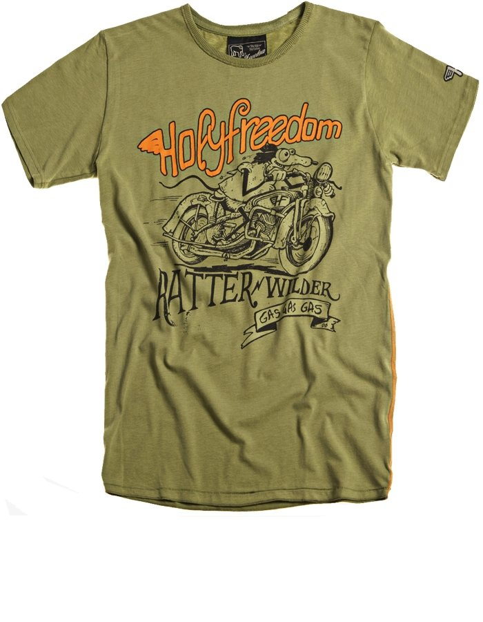 Holy Freedom - Holy Freedom Ratter Green T'Shirt - T-Shirts - Salt Flats Clothing