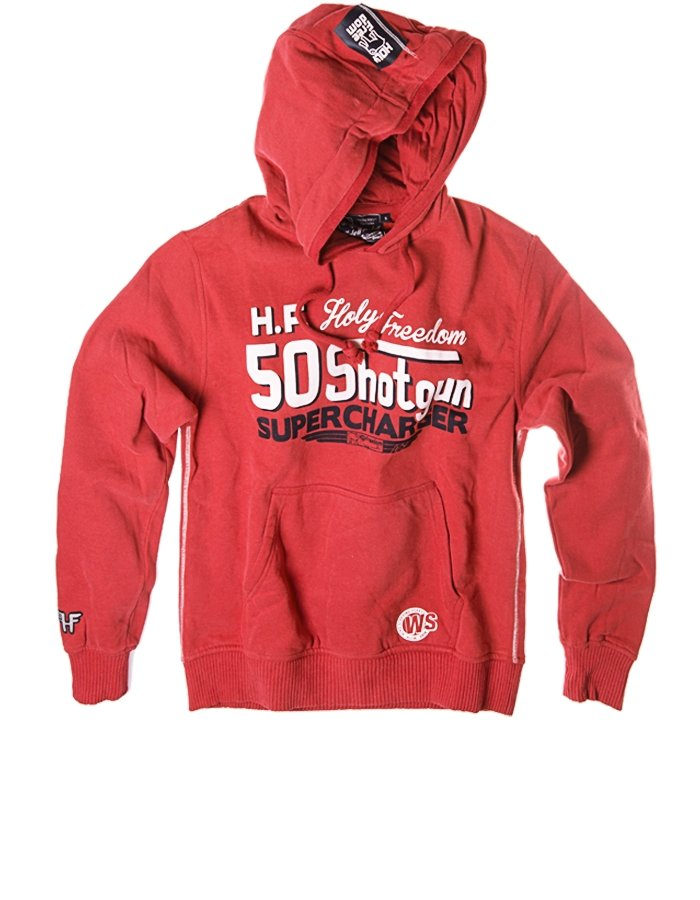 Holy Freedom - Holy Freedom Shotgun Red Wind Stopper Hoodie - Hoodies | Sweatshirts | Wind Stoppers - Salt Flats Clothing