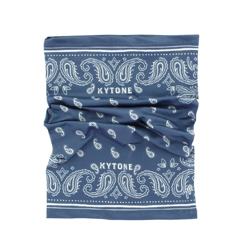 Kytone - Kytone Paisley Blue Neck Bandana Tube - Bandana's and Tubes - Salt Flats Clothing