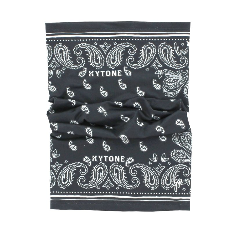 Kytone - Kytone Paisley Grey Black Neck Bandana Tube - Bandana's and Tubes - Salt Flats Clothing