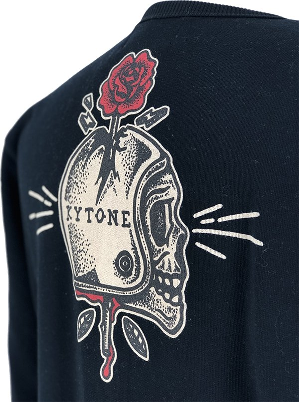 Kytone - Kytone Spiked Black Sweat Top - Hoodies | Sweatshirts | Wind Stoppers - Salt Flats Clothing