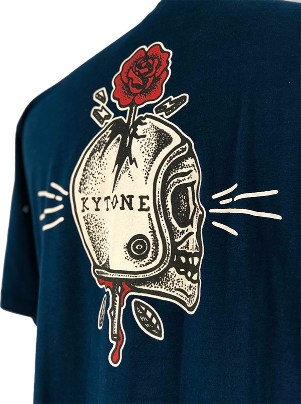 Kytone - Kytone Spiked MC Navy T'Shirt - T-Shirts - Salt Flats Clothing