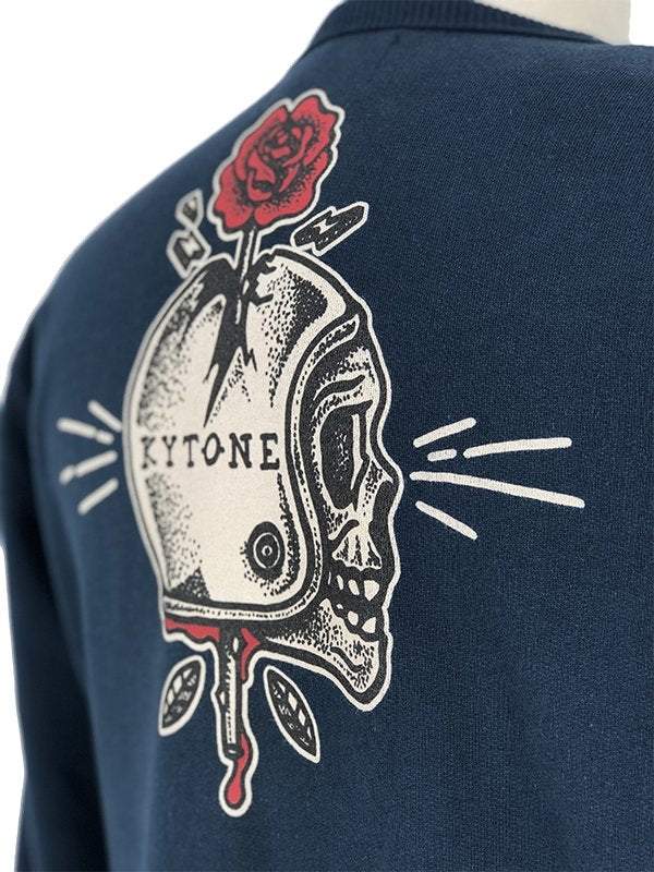 Kytone - Kytone Spiked Navy Sweat Top - Hoodies | Sweatshirts | Wind Stoppers - Salt Flats Clothing