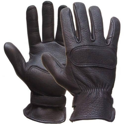 Lee Parks Design - Lee Parks Design DeerTours® Deerskin Black Gloves - Gloves - Salt Flats Clothing