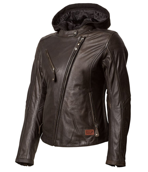 Roland Sands Design Mia Tobacco Ladies Leather Motorcycle Jacket