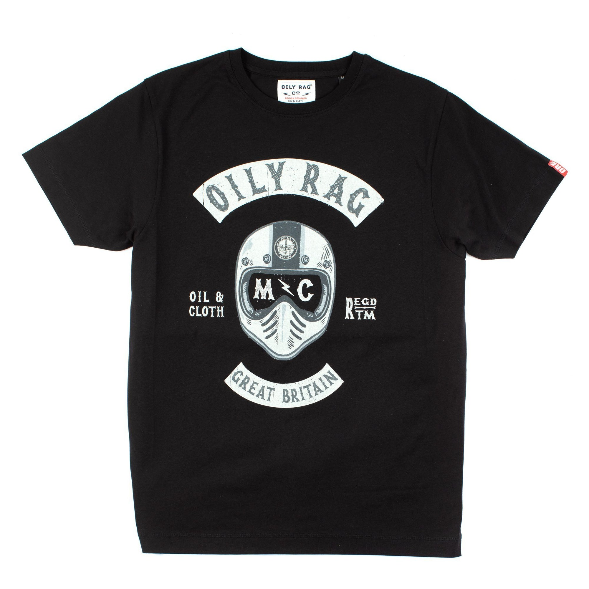 Oily Rag Clothing - Oily Rag Clothing Black Label Motorrad Kapitel T'Shirt - T-Shirts - Salt Flats Clothing