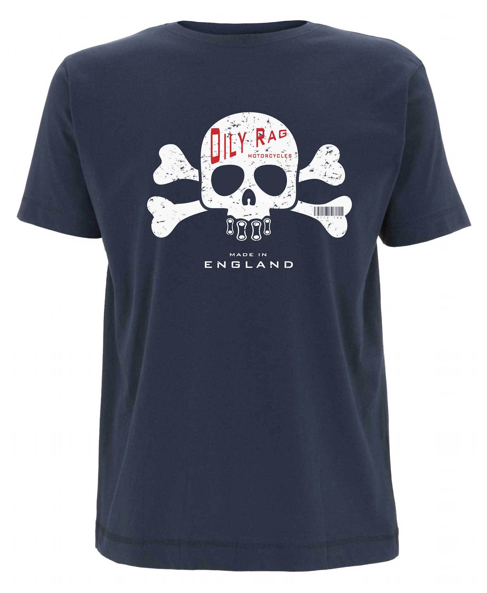 Oily Rag Clothing - Oily Rag Clothing Cross Bones T'Shirt - T-Shirts - Salt Flats Clothing