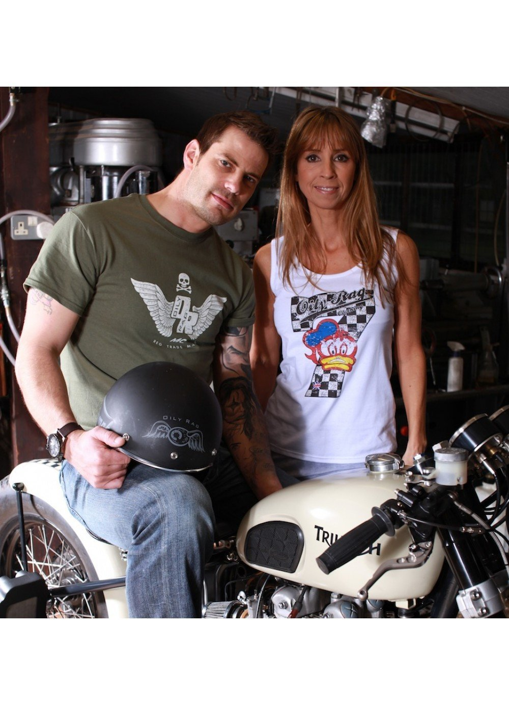 Oily Rag Clothing - Oily Rag Clothing Ladies Legend (Barry Sheene tribute) Vest - T-Shirts - Salt Flats Clothing