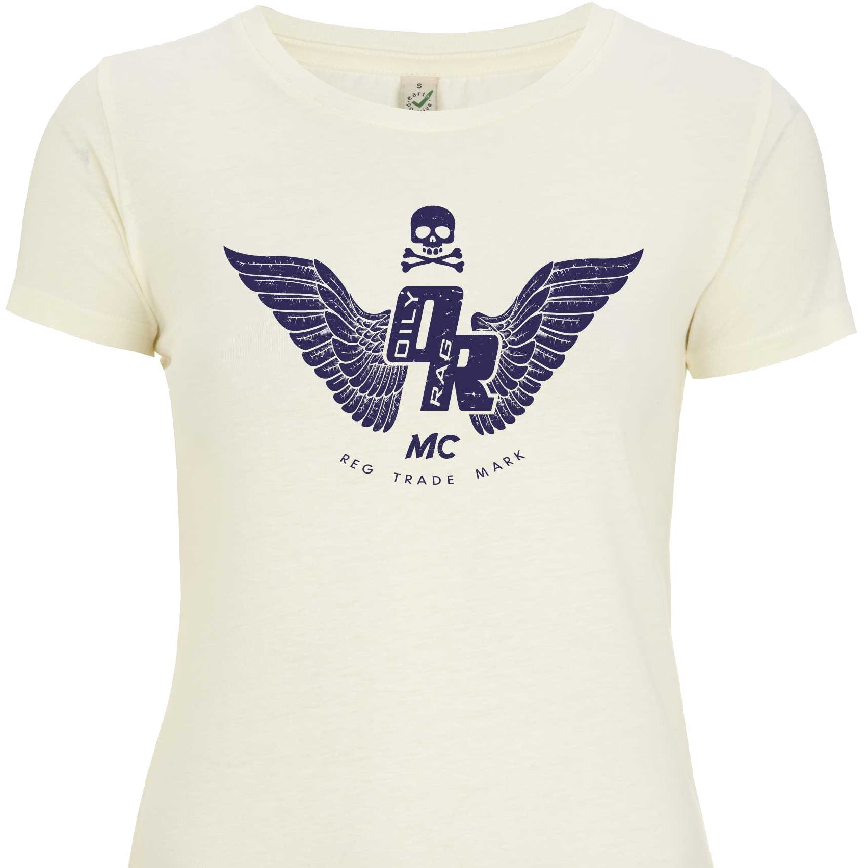 Oily Rag Clothing - Oily Rag Clothing Ladies Motorcycle Club T'Shirt in Linen - T-Shirts - Salt Flats Clothing