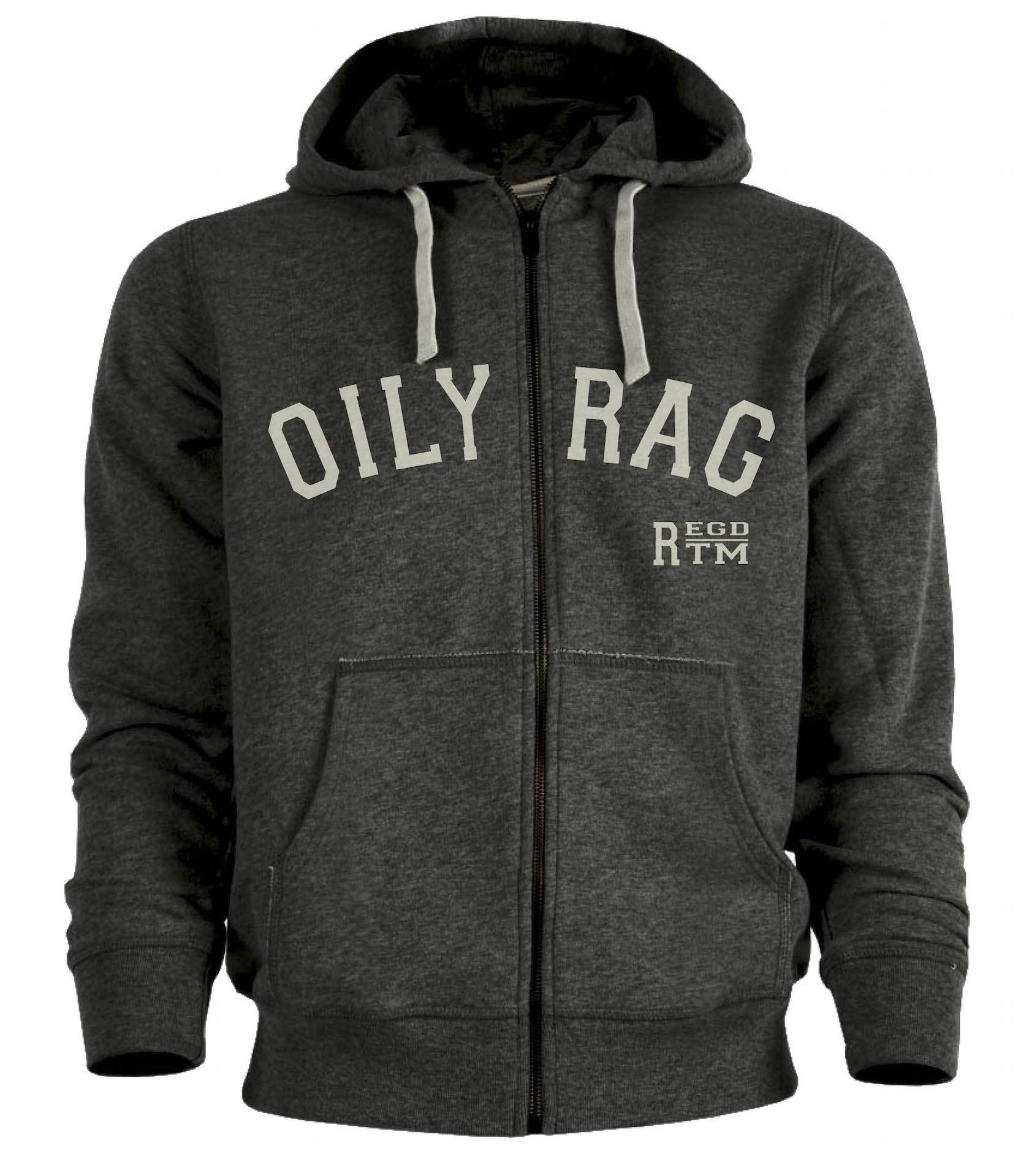 Oily Rag Clothing - Oily Rag Clothing Mens Trademark Zipped Hoodie - Hoodies | Sweatshirts | Wind Stoppers - Salt Flats Clothing