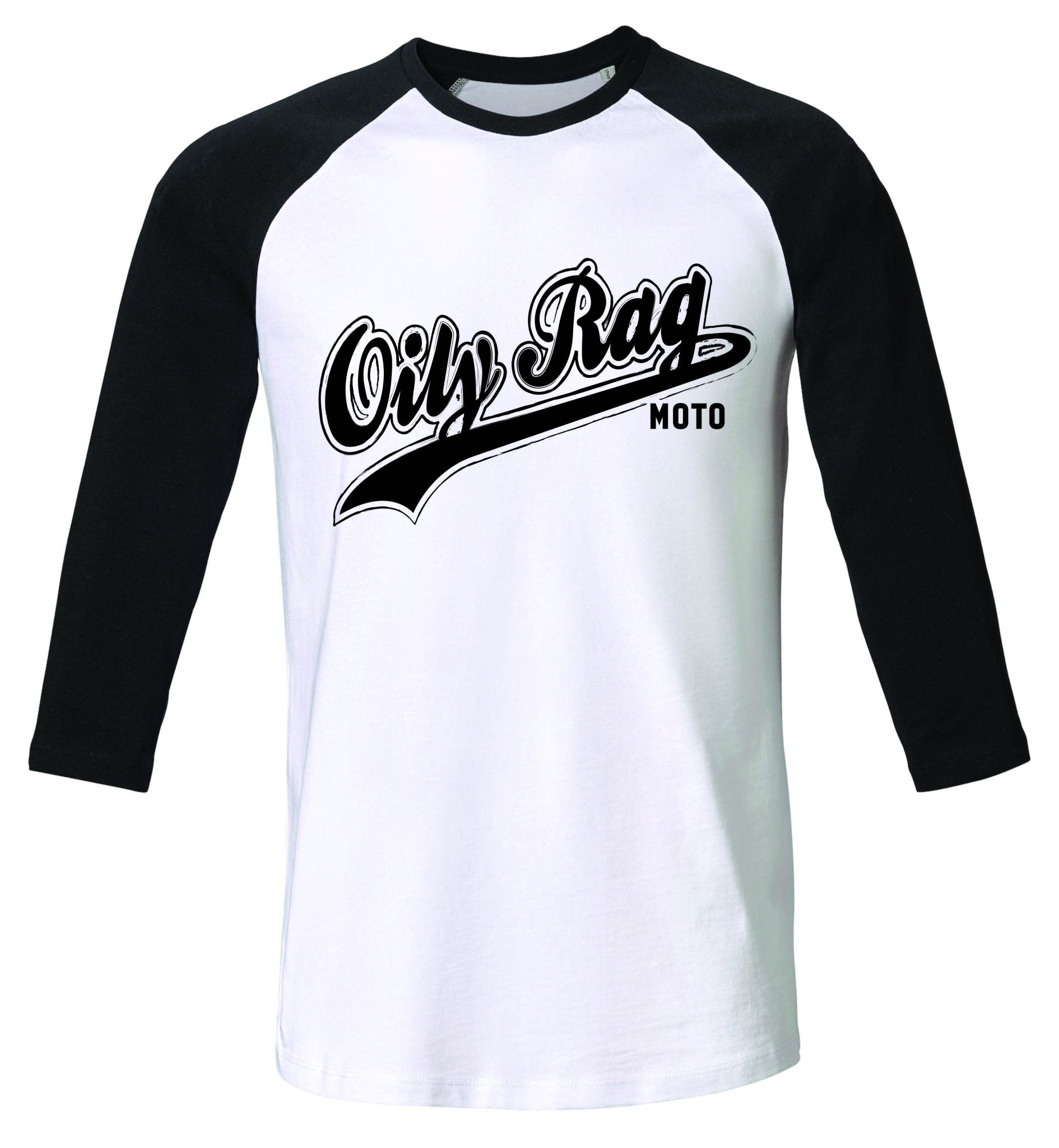 Oily Rag Clothing - Oily Rag Clothing Moto Raglan 3/4 Length Sleeve T'Shirt - T-Shirts - Salt Flats Clothing