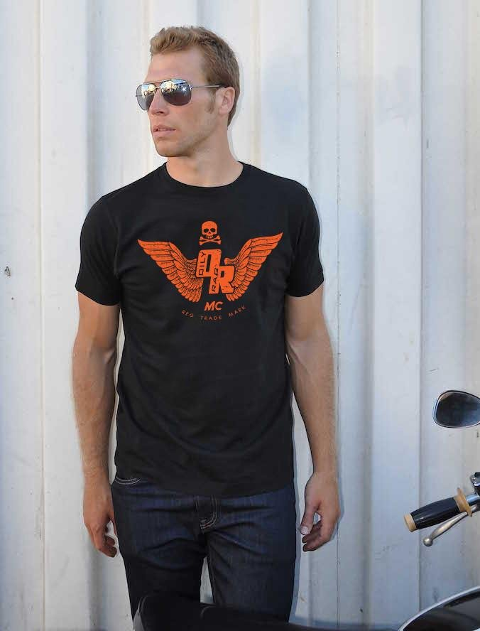 Oily Rag Clothing - Oily Rag Clothing Motorcycle Club T'Shirt in Black - T-Shirts - Salt Flats Clothing
