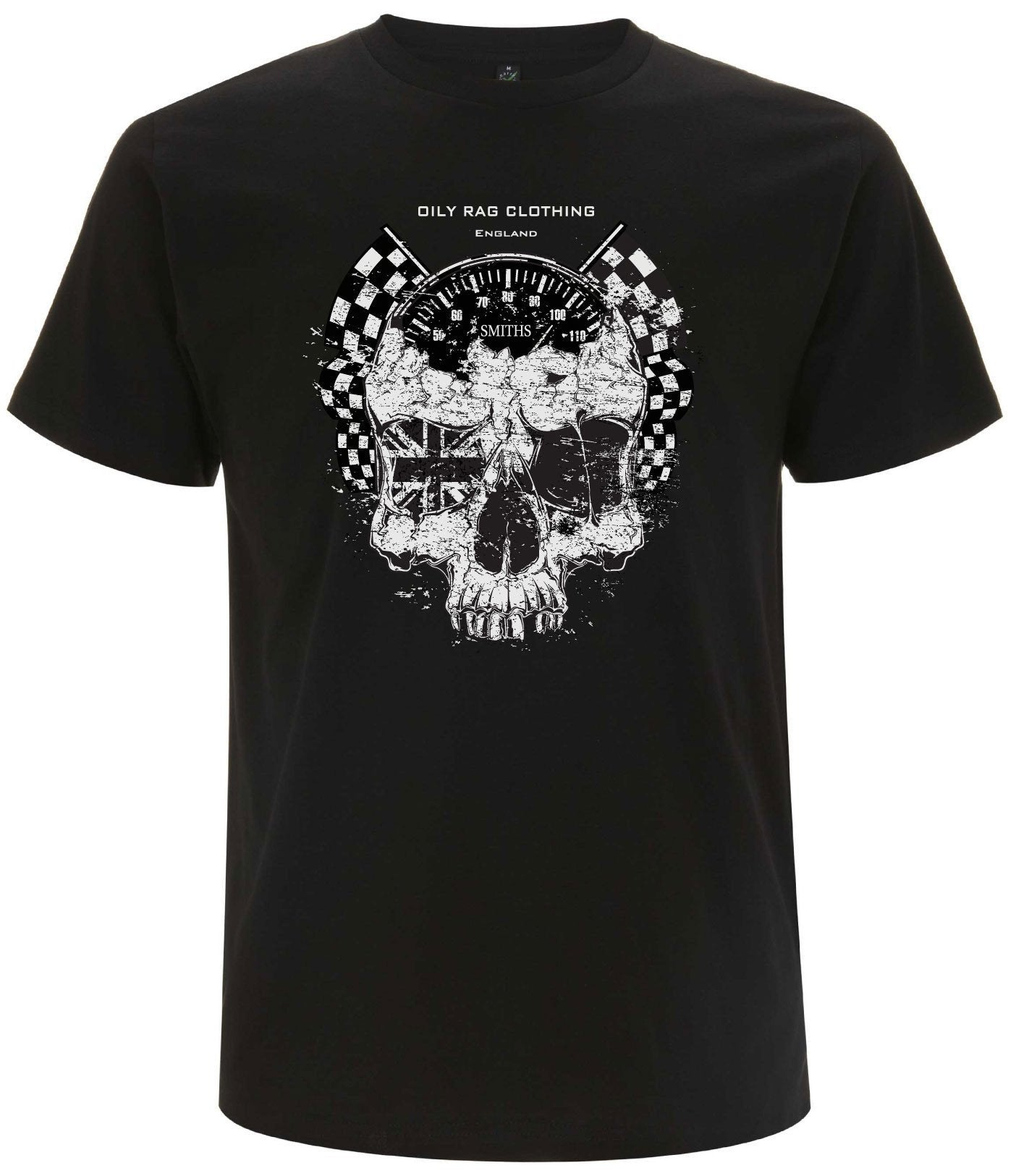 Oily Rag Clothing - Oily Rag Clothing Ton Up Skull T'Shirt - T-Shirts - Salt Flats Clothing