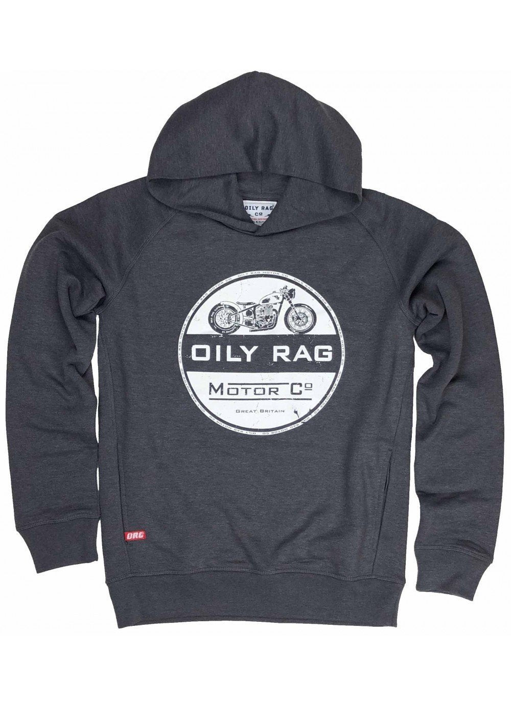 Oily Rag Clothing - Oily Rag Clothing Unisex Motor Co Black Label Hoodie - Hoodies | Sweatshirts | Wind Stopper - Salt Flats Clothing