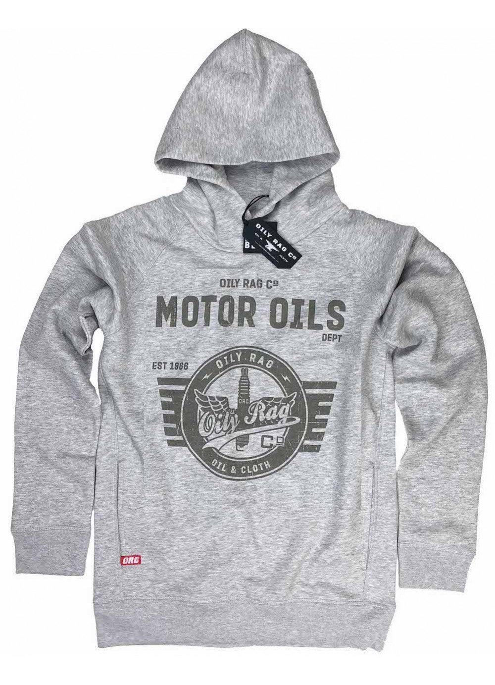Oily Rag Clothing - Oily Rag Clothing, der Unisexmotoröle schwarzes Etikett Hoodie - Hoodies | Sweatshirts | Windpfropfen - Salt Flats Clothing
