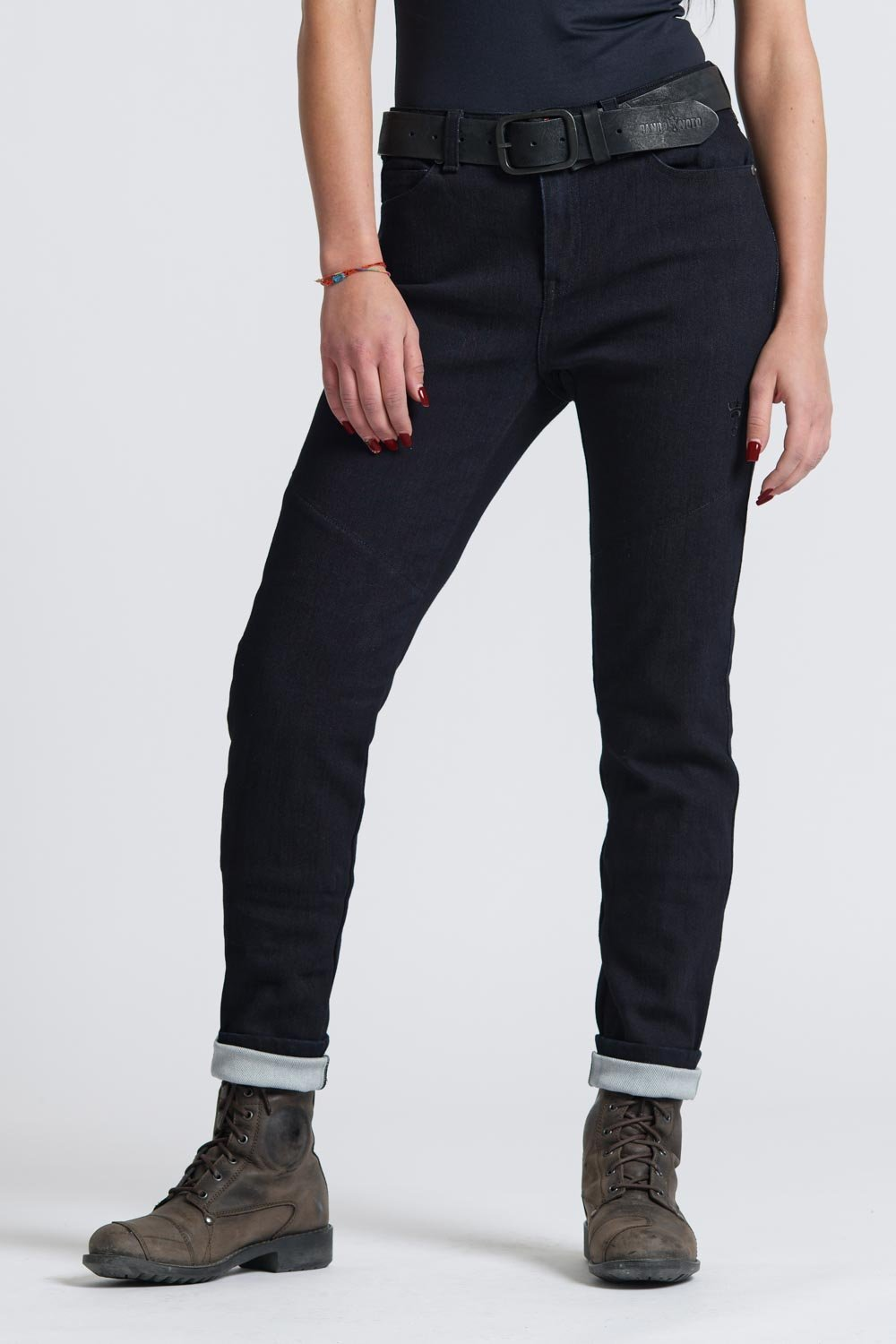 Pando Moto - Pando Moto Kissaki Ladies Black Jeans - Ladies Trousers - Salt Flats Clothing