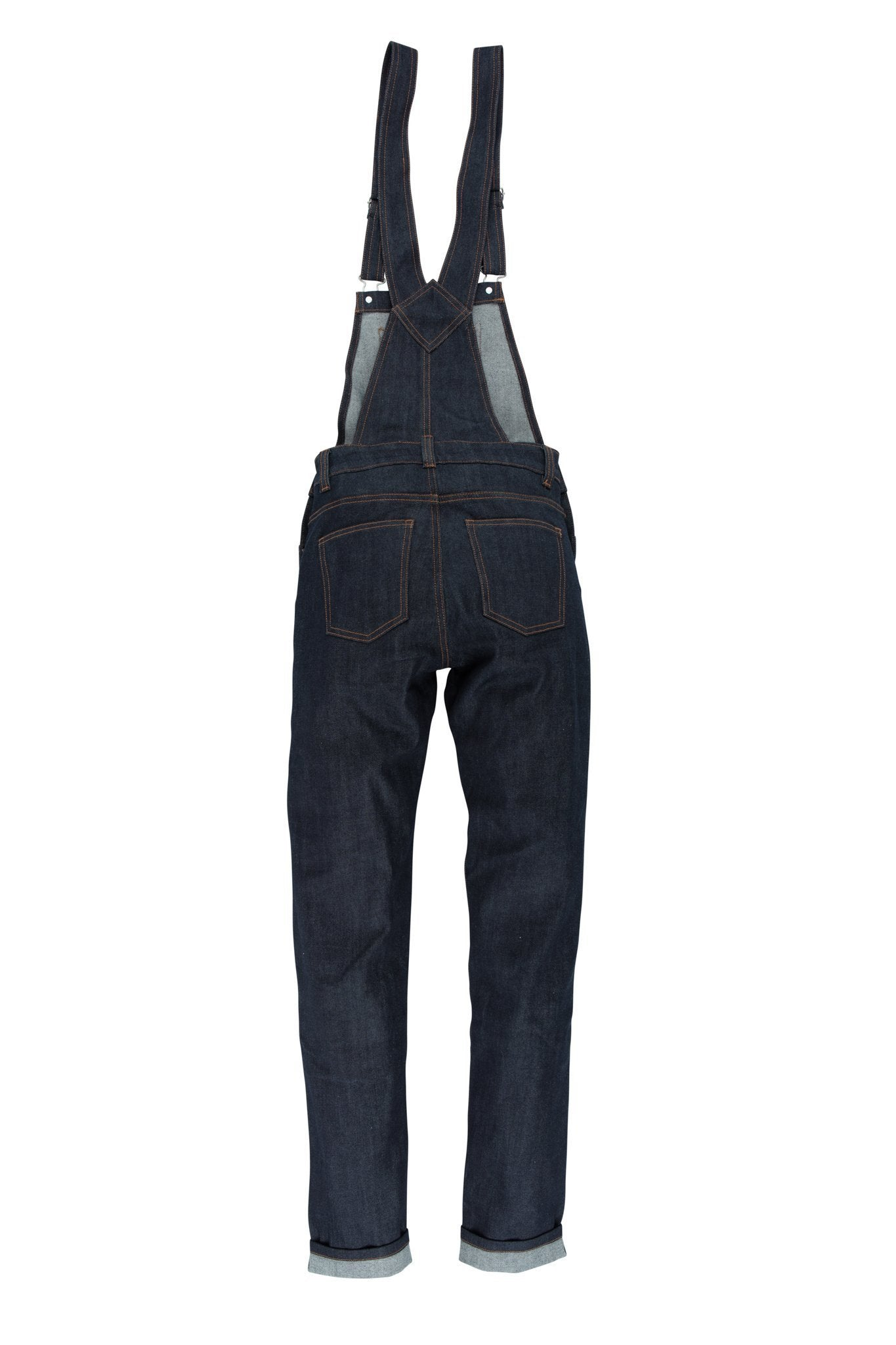 Resurgence Gear Inc. - Resurgence Gear® Ladies Dungarees Raw Selvedge Protective Motorcycle Regular Cut Jean - Ladies Trousers - Salt Flats Clothing