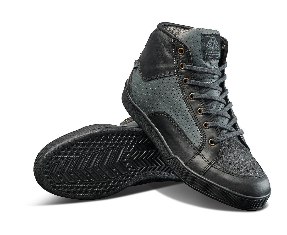 Roland Sands Design - Roland Sands Design Fresno Perforated Black and Charcoal Riding boots - Boots - Salt Flats Clothing
