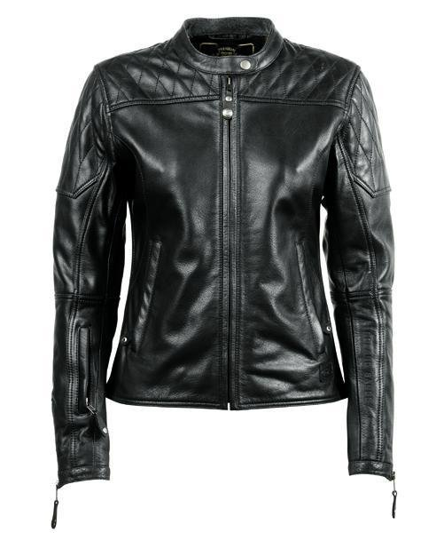 Roland Sands Design - Roland Sands Design Ladies Trinity Leather Jacket - Black - Ladies Jackets - Salt Flats Clothing