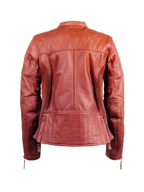 Roland Sands Design - Roland Sands Design Ladies Trinity Leather Jacket - Brown - Ladies Jackets - Salt Flats Clothing