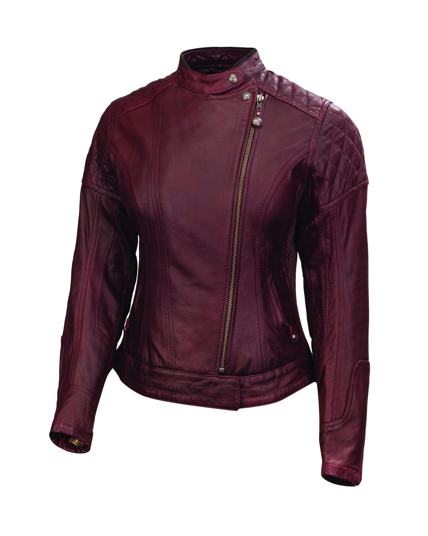 Roland Sands Design - Roland Sands Design Riot Oxblood Ladies Leather Jacket - Ladies Jackets - Salt Flats Clothing