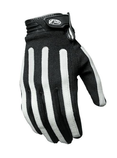 Roland Sands Design - Roland Sands Design Strand Gloves - Black and White - Gloves - Salt Flats Clothing