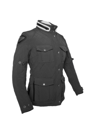 By City Ladies Style Soft Shell Textile Motorcycle Jacket