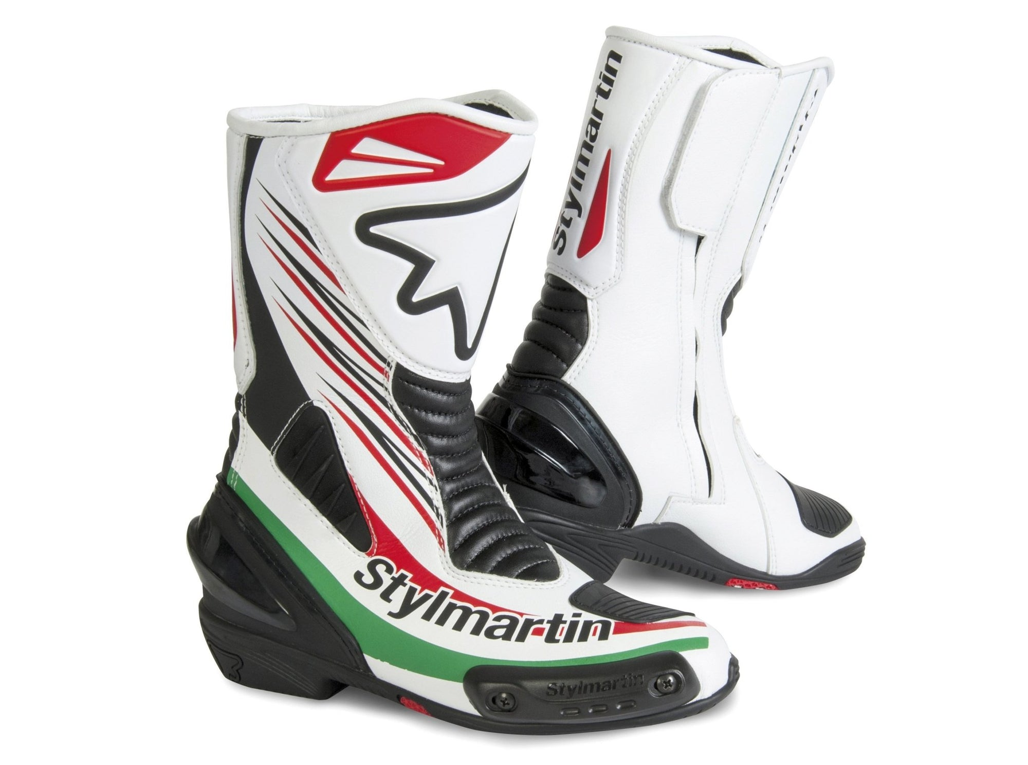 Stylmartin - Stylmartin Dream RS Racing in Black White - Boots - Salt Flats Clothing