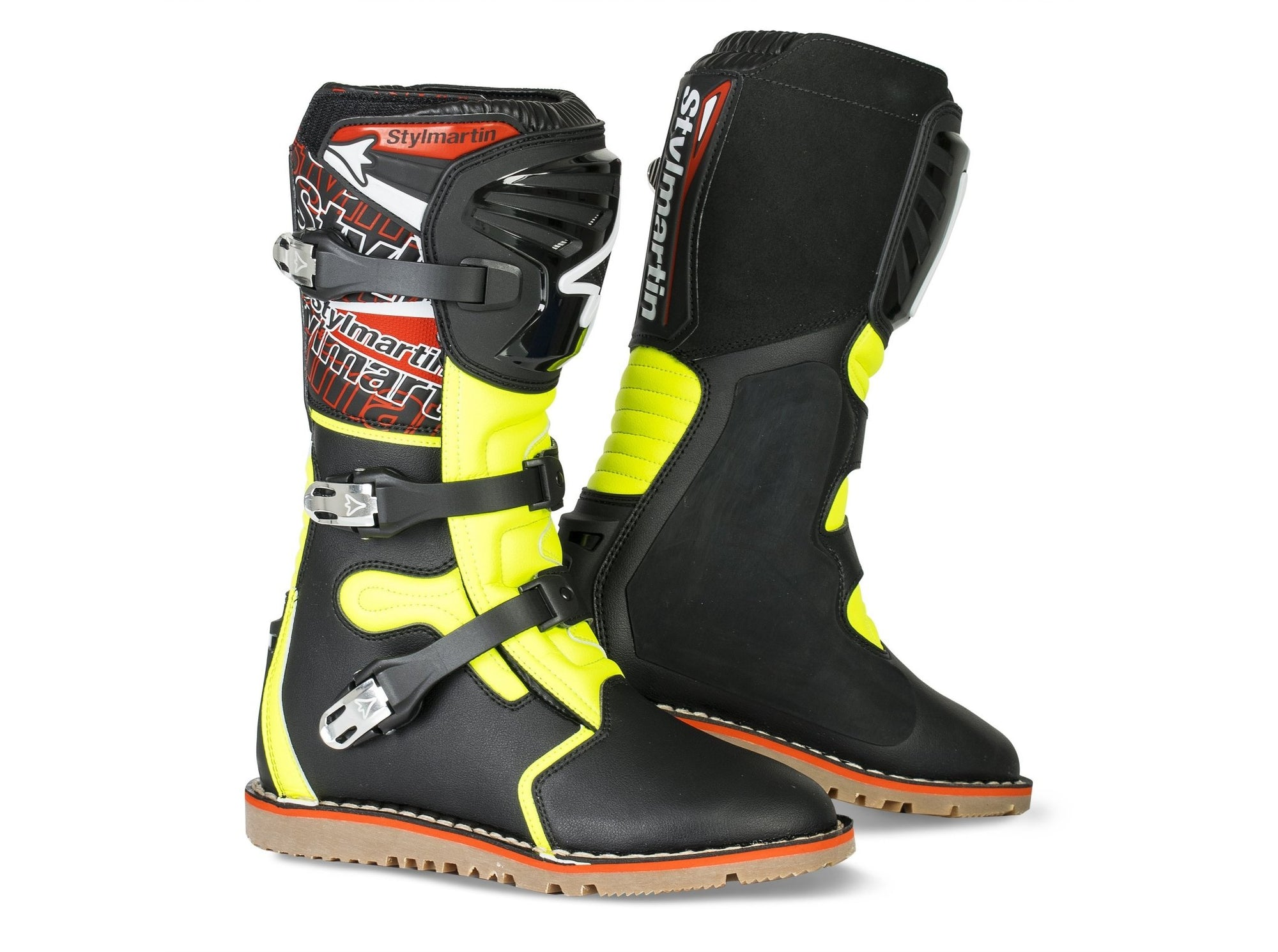 Stylmartin - Stylmartin Impact Pro WP Off Road in Black and Yellow - Boots - Salt Flats Clothing