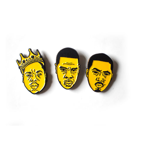 BIGGIE, JAY-Z & NAS MINI PIN SET